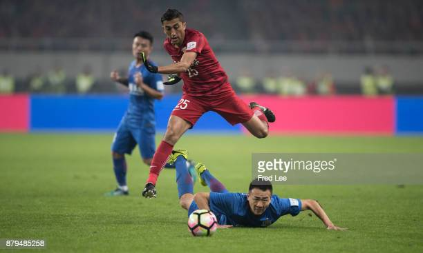Ahmad Dov of Shanghai SIPG in action during the 2017 CFA Cup Final Round match between Shanghai SIPG and Shanghai Greenland Shenhua at Shanghai...