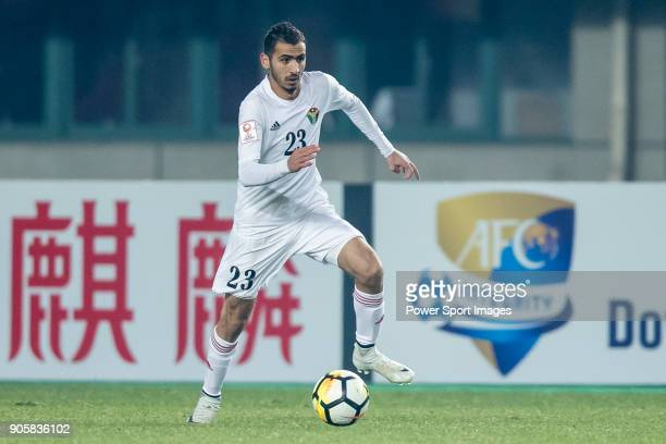 Ahmad Ersan of Jordan in action during the AFC U23 Championship China 2018 Group C match between Malaysia and Jordan at Changshu Sports Center on 13...