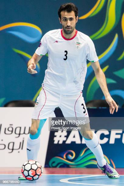 Ahmad Esmaeilpour of Iran in action during the AFC Futsal Championship Chinese Taipei 2018 Semi Finals match between Iran and Uzbekistan at Xinzhuang...