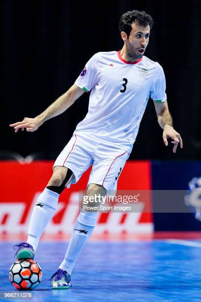 Ahmad Esmaeilpour of Iran in action during the the AFC Futsal Championship Chinese Taipei 2018 Quarter Finals match between IR Iran vs Thailand at...