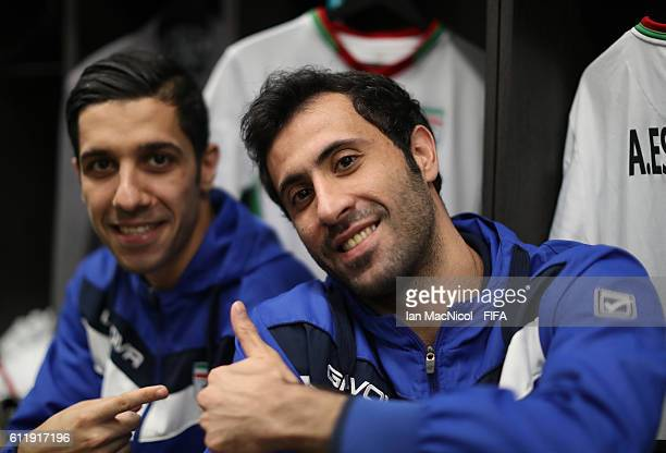 Ahmad Esmaeilpour of Iran is seen in the dressing room prior to the FIFA Futsal World Cup Third Place play off match between Iran and Portugal at the...