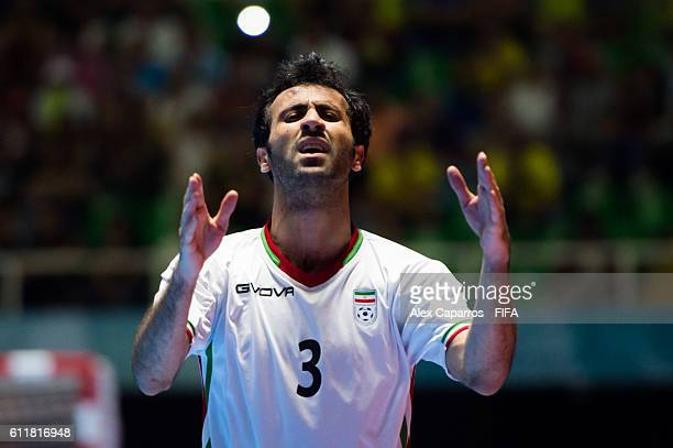Ahmad Esmaeilpour of Iran reacts during the FIFA Futsal World Cup Third Place Play off match between Iran and Portugal at the Coliseo El Pueblo...