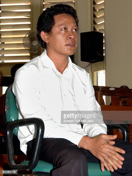 Ahmad Fahrul Rozi accused of killing Australian woman Heidi Murphy seats during his trial at a Denpasar court in Bali island on July 28 2008...