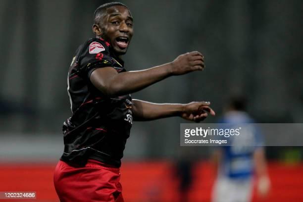 Ahmad Mendes Moreira of Excelsior Rotterdam, celebrates his goal the 5-4 during the Dutch Keuken Kampioen Divisie match between Excelsior v FC Den...