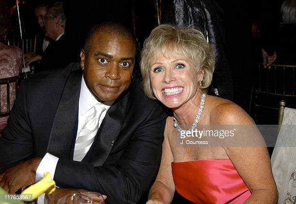 Ahmad Rashad and CC Dyer during American Cancer Society Spring Gala 2004 at Mandarin Oriental Hotel in New York City New York United States