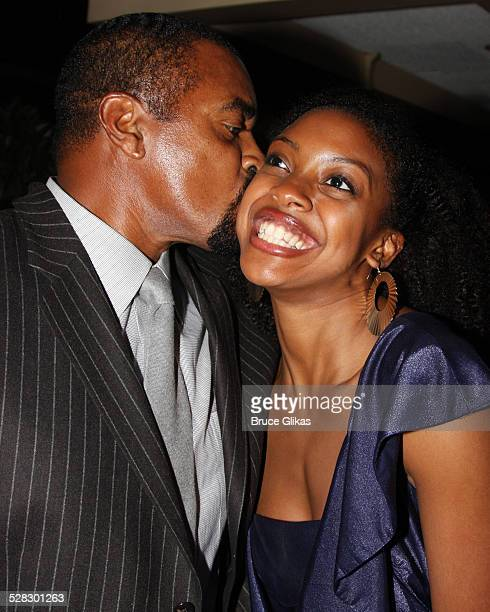 Ahmad Rashad and daughter Condola Rasha attend the after party for the OffBroadway opening night of Ruined at the Red Eye Grill on February 10 2009...