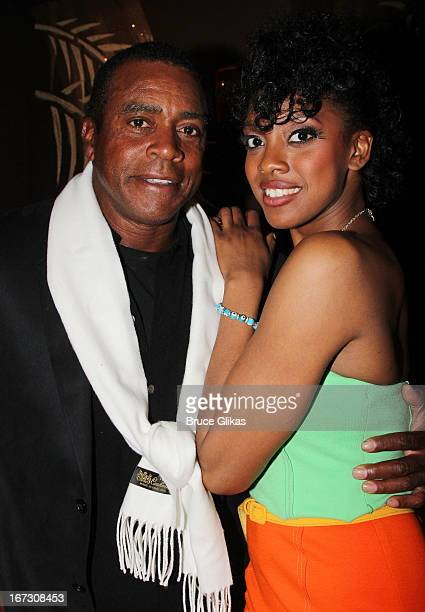 Ahmad Rashad and daughter Condola Rashad attend the after party for the Broadway opening night of 'The Trip To Bountiful' at The Copacabana on April...
