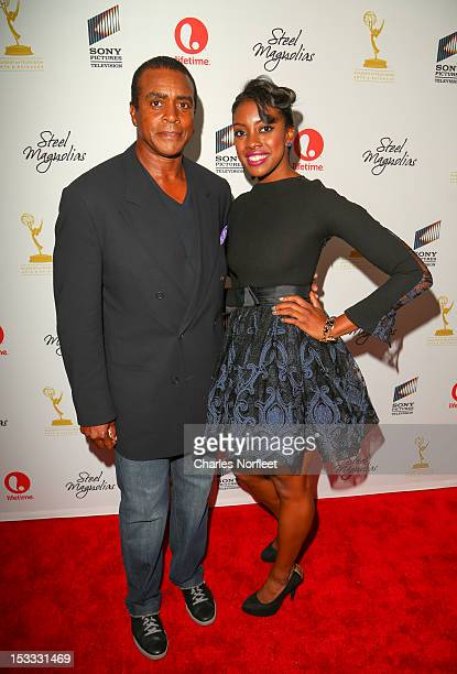 Ahmad Rashad and his daughter Condola Rashad attend the 'Steel Magnolias' New York Premiere at Paris Theatre on October 3 2012 in New York City