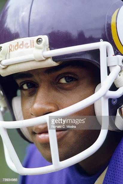 Ahmad Rashad of the Minnesota Vikings in September 1982 in Minneapolis Minnesota