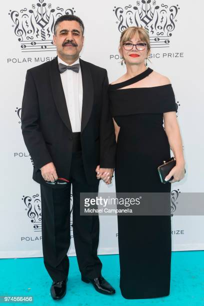 Ahmad Sarmast and Mary Sarmast attend the 2018 Polar Music Prize award ceremony at the Grand Hotel on June 14 2018 in Stockholm Sweden