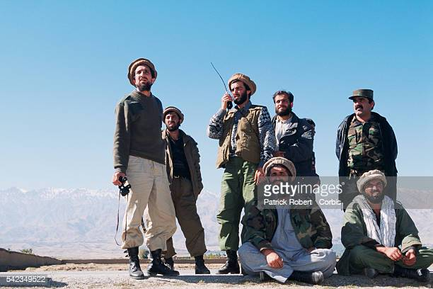 Ahmad Shah Massoud and his mujahideen on the frontline north of Kabul The city was seized by the Taliban on October 27 1996 | Location North of Kabul...