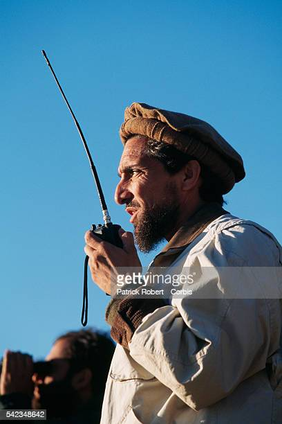 Ahmad Shah Massoud and his mujahideen on the frontline to the north of Kabul The city was seized by the Taliban on October 27 1996 | Location North...