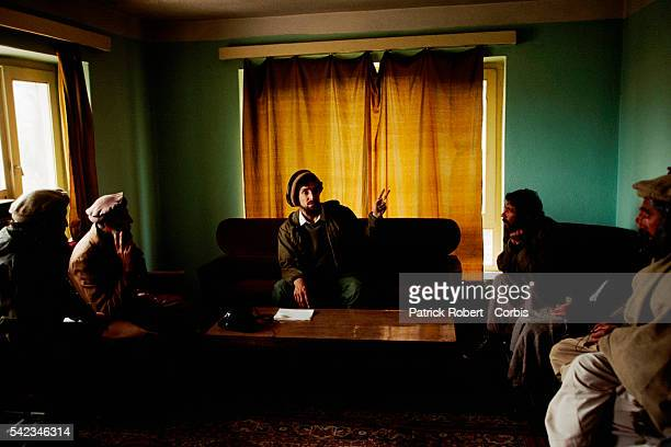 Ahmad Shah Massoud at his headquarters in Charikar after the mujahideen have just defeated Mohammad Najibullah's forces in Kabul