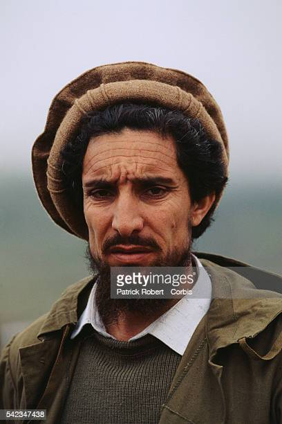 Ahmad Shah Massoud at his military headquarters in Charikar Massoud's mujahideen forces are fighting the Taliban to the north of Kabul