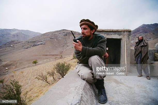 Ahmad Shah Massoud commands the battle against the Taliban His mujahideen are on the frontlines to the north of Kabul | Location North of Kabul...