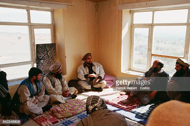 Ahmad Shah Massoud commands the battle against the Taliban His mujahideen forces are on the frontline to the north of Kabul | Location North of Kabul...