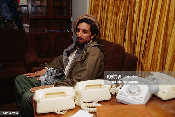 Ahmad Shah Massoud in Kabul after the fall of the city on April 29 after his mujahideen defeated Mohammad Najibullah's forces in the capital