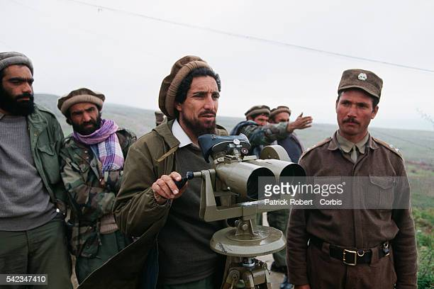 Ahmad Shah Massoud keeps an eye on operations at his military headquarters in Charikar Massoud's mujahideen forces are fighting the Taliban to the...