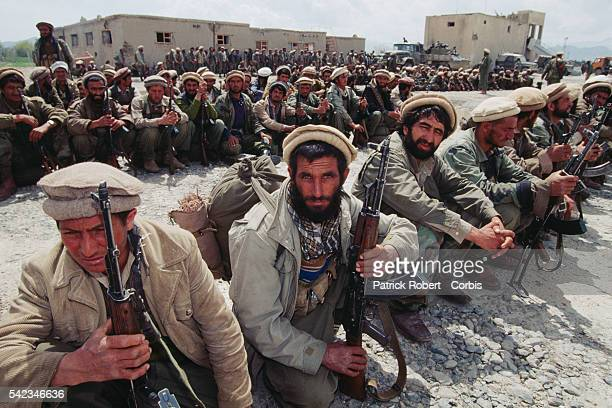 Ahmad Shah Massoud's mujahideen arrive at Kabul airport The city fell into the hands of the mujahideen after Mohammad Najibullah's forces were...