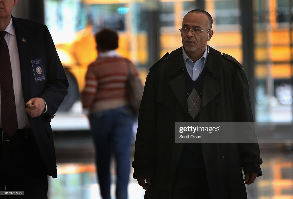 Ahmad Tounisi, the father of 18-year-old Abdella Ahmad Tounisi, leaves the Dirksen Federal Building following a court hearing on May 3, 2013 in Chicago, Illinois. A judge today overturned yesterday's decision by Judge Daniel Martin to release Abdella Tounisi on bond. Tounisi is accused of trying to fly to Turkey to join up with an al-Qaida group to fight in Syria. He has also been accused of plotting to bomb a Chicago bar last year.