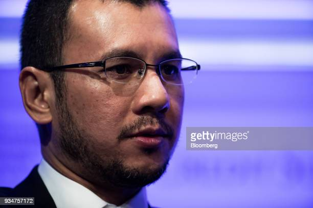 Ahmad Zulqarnain Onn deputy managing director of Khazanah Nasional Berhad speaks during the Credit Suisse Asian Investment Conference in Hong Kong...