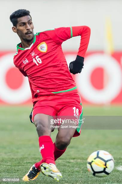 Ahmed Al Matroushi of Oman in action during the AFC U23 Championship China 2018 Group D match between Uzbekistan and Oman at Jiangyin Stadium on 15...