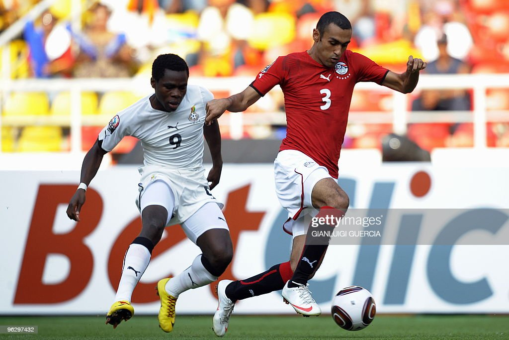 Ahmed al-Mohamady (R) of Egypt outruns : News Photo