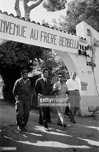Ahmed Ben Bella back a few days after the independence in July 1962 in Algiers Algeria