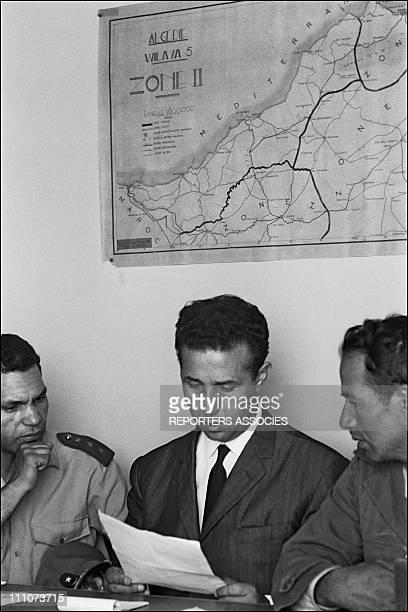 Ahmed Ben Bella in Alger Algeria in 1962