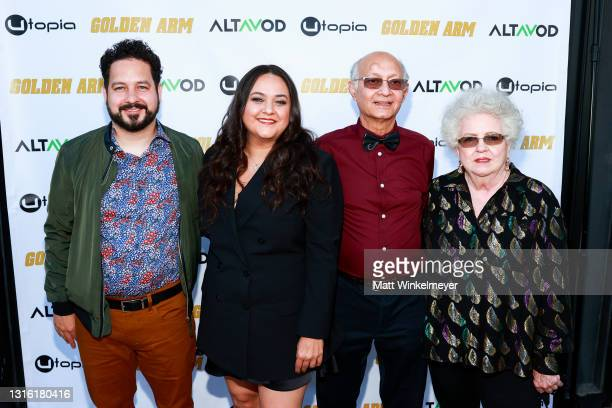 "Ahmed Bharoocha, Maureen Bharoocha, Omer Bharoocha, and Regina Bharoocha attends Utopia Films presents ""Golden Arm"" premiere at Palm Sophia Rooftop..."