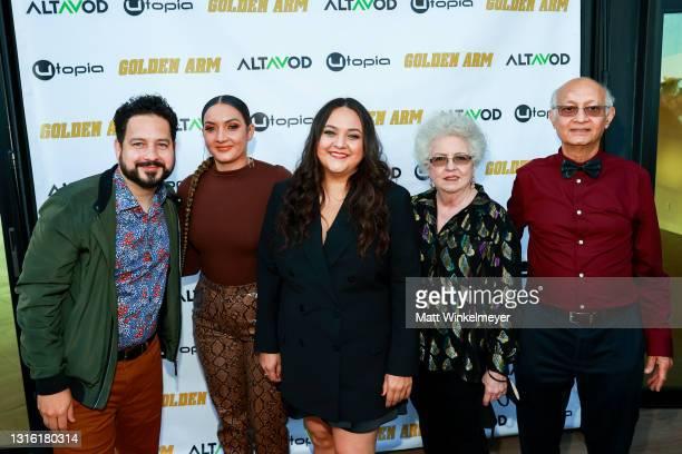 "Ahmed Bharoocha, Monica-Sabina Bharoocha, Maureen Bharoocha, Regina Bharoocha, and Omer Bharoocha attends Utopia Films presents ""Golden Arm"" premiere..."