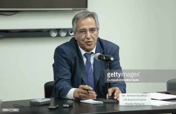 Ahmed Boukhari UN Representative of the Frente Polisario speaking regarding the recent developments in Western Sahara at the United Nations New York...