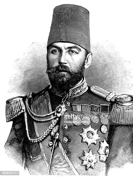 Ahmed cevat pasha 1850 1900 turkish grand vizier governor of crete and damascus historical illustration circa 1893