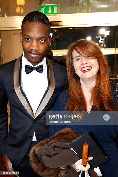 Ahmed Drame and MarieCastille MentionSchaar arrive at the 40th Cesar Film Awards 2015 Cocktail at Theatre du Chatelet on February 20 2015 in Paris...