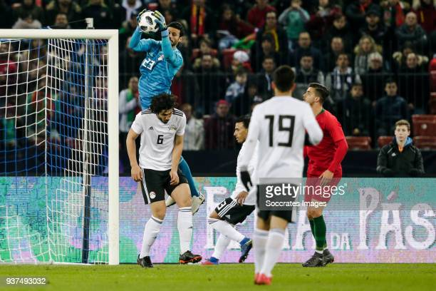 Ahmed El Shenawy of Egypt during the International Friendly match between Egypt v Portugal at the Letzigrund Stadium on March 23 2018 in Zurich...