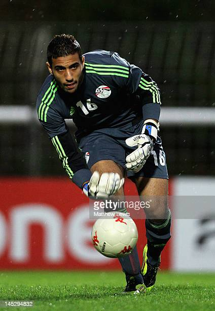 Ahmed El Shenawy of Egypt in action during the Toulon Tournament Group A match between Egypt and Turkey at Stade Perruc on May 25 2012 in...