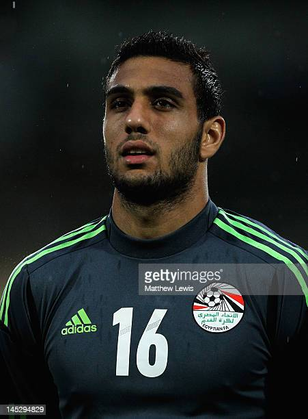 Ahmed El Shenawy of Egypt looks on during the Toulon Tournament Group A match between Egypt and Turkey at Stade Perruc on May 25 2012 in SaintRaphael...