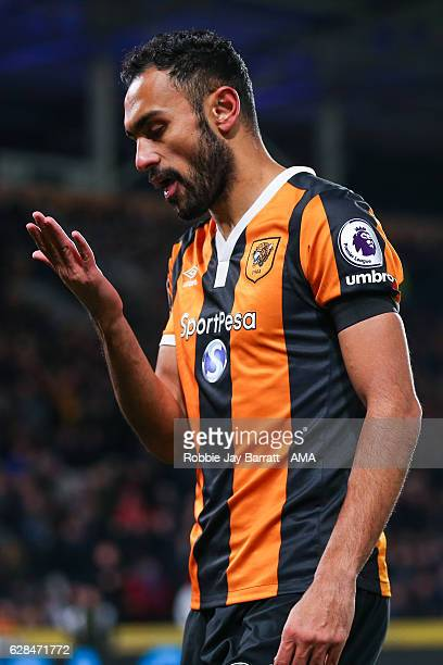 Ahmed Elmodhamady of Hull City during the EFL Cup QuarterFinal match between Hull City and Newcastle United at KCOM Stadium on November 29 2016 in...