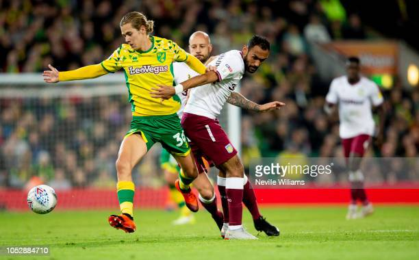 Ahmed Elmohamady of Aston Villa during the Sky Bet Championship match between Norwich City and Aston Villa at Carrow Road on October 23, 2018 in...