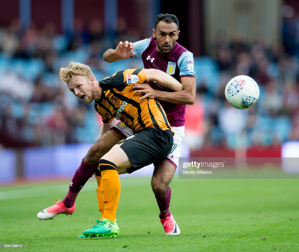 Ahmed Elmohamady of Aston Villa during the Sky Bet Championship match between Aston Villa and Hull City at Villa Park on August 05, 2017 in Birmingham, England.