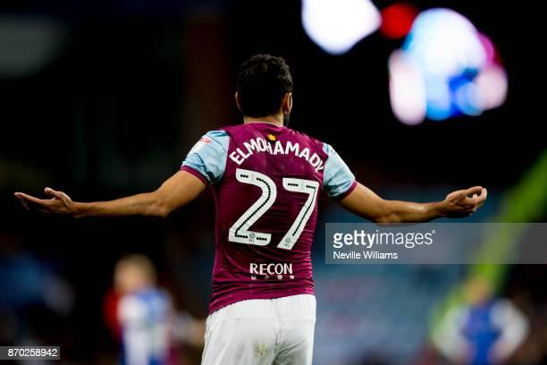 Ahmed Elmohamady of Aston Villa during the Sky Bet Championship match between Aston Villa and Sheffield Wednesday at Villa Park on November 04 2017...