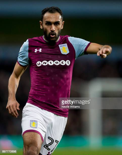 Ahmed Elmohamady of Aston Villa during the Sky Bet Championship match between Aston Villa and Sheffield United at Villa Park on December 23 2017 in...