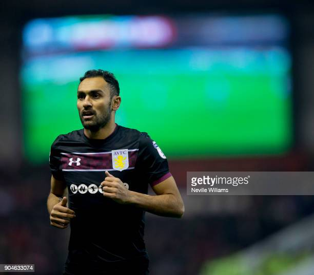 Ahmed Elmohamady of Aston Villa during the Sky Bet Championship match between Nottingham Forest and Aston Villa at the City Ground on January 13 2018...