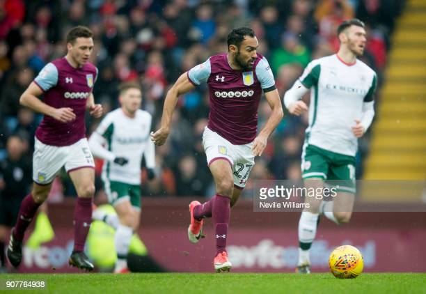 Ahmed Elmohamady of Aston Villa during the Sky Bet Championship match between Aston Villa and Barnsley at Villa Park on January 20 2018 in Birmingham...