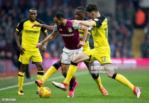 Ahmed Elmohamady of Aston Villa during the Sky Bet Championship match between Aston Villa and Burton Albion at Villa Park on February 03 2018 in...