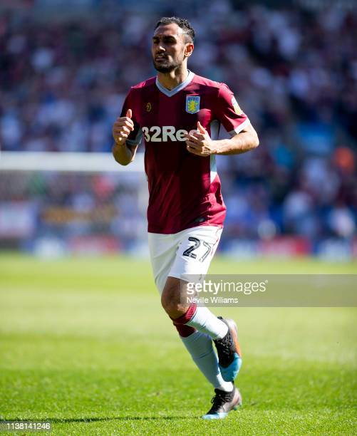 Ahmed Elmohamady of Aston Villa in action during the Sky Bet Championship match between Bolton Wanderers and Aston Villa at the Macron Stadium on...