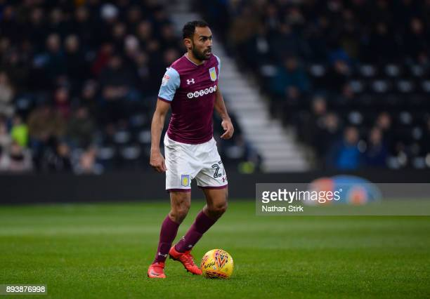 Ahmed Elmohamady of Aston Villa in action during the Sky Bet Championship match between Derby County and Aston Villa at iPro Stadium on December 16...