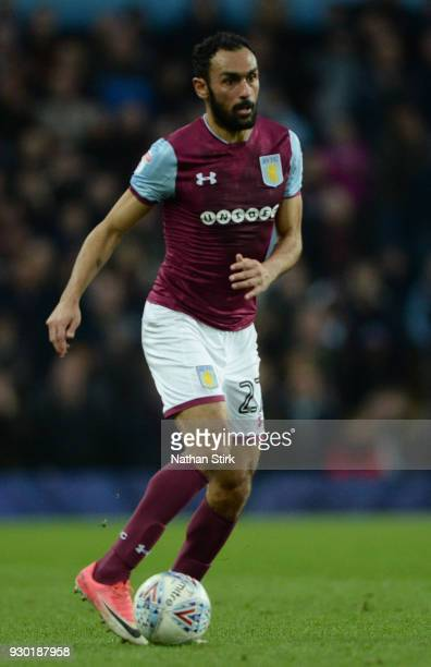 Ahmed Elmohamady of Aston Villa in action during the Sky Bet Championship match between Aston Villa and Wolverhampton Wanderers at Villa Park on...
