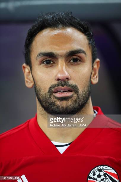 Ahmed Elmohamady of Egypt during the International Friendly match between Portugal and Egypt at Stadion Letzigrund on March 23 2018 in Zurich...