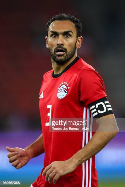 Ahmed Elmohamady of Egypt during the International Friendly match between Egypt and Greece at Stadion Letzigrund at Letzigrund on March 27 2018 in...